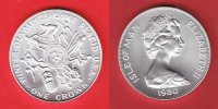 Isle of Man 1 Crown 1980 Stempelglanz Brilliant uncirculated BU Olympiad... 15,00 EUR