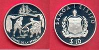 10 Dollars 1994 Westsamoa Comte de la Perouse, Seefahrt Polierte Platte... 24,00 EUR