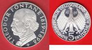 5 DM 1969 BRD Fontane, offen, gekapselt Polierte Platte Proof PP  12,00 EUR  zzgl. 5,00 EUR Versand