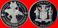 Jamaika 10 Dollar 1984 Polierte Platte Proof PP UN Decade for Women - Ja... 37,00 EUR