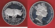 Cook Islands 50 Dollar Nashorn, Tierwelt, WWF, Endangered Wildlife