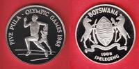 5 Pula 1988 Botswana Langstreckenlauf - Olympiade 1988 Seoul Polierte P... 13,50 EUR