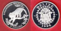 Belize 10 Dollar Affe, Tierwelt, WWF, Endangered Wildlife