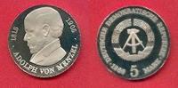5 Mark 1980 DDR Adolph von Menzel Polierte Platte offen, Proof PP  30,00 EUR  zzgl. 5,00 EUR Versand