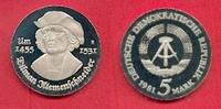 5 Mark 1981 DDR Tilman Riemenschneider Polierte Platte offen, Proof PP  33,00 EUR  +  5,00 EUR shipping