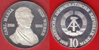 10 Mark 1976 DDR Carl Maria v. Weber Silber, encapsuled Polierte Platte... 49,00 EUR  +  5,00 EUR shipping