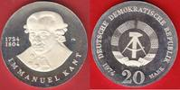 20 Mark 1974 DDR Immanuel Kant Silber in Kapsel Polierte Platte offen, ... 58,00 EUR  zzgl. 5,00 EUR Versand