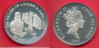 Cook Islands 50 Dollars 1992 Polierte Plat...