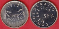 5 Franken 1975 Schweiz Denkmalschutz Polierte Platte Proof, PP  11,00 EUR  +  5,00 EUR shipping
