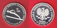 200 Zloty 1980 Polen Olympiade Lake Placid 1980 - Skispringer ohne Fack... 12,00 EUR