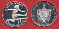 10 Pesos 1990 Kuba Olympiade 1992 Barcelona, Hürdenlauf Polierte Platte... 16,20 EUR  zzgl. 5,00 EUR Versand