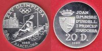 Andorra 20 Diners 1989 Polierte Platte Pro...