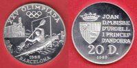 20 Diners 1989 Andorra Olympiade 1992 Barcelona, Kajak Polierte Platte ... 25,00 EUR  +  5,00 EUR shipping