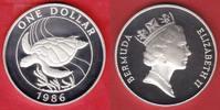 1 Dollar 1986 Bermudas Meeresschildkröte, Tierwelt, WWF, Endangered Wil... 19,00 EUR  zzgl. 5,00 EUR Versand