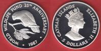5 Dollars 1987 Cayman Islands Kaiman-Weißkopfamazone, Tierwelt, WWF, En... 19,00 EUR  zzgl. 5,00 EUR Versand