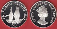 50 Pence 1987 Falkland Inseln Königspinguine, Tierwelt, WWF, Endangered... 19,00 EUR  zzgl. 5,00 EUR Versand