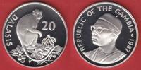 20 Dalasis 1987 Gambia Temminck-Stummelaffe, Tierwelt, WWF, Endangered ... 22,00 EUR  zzgl. 5,00 EUR Versand