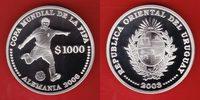 1000 Pesos 2003 Uruguay World Soccer Games 2006 Polierte Platte Proof PP  21,00 EUR  +  5,00 EUR shipping