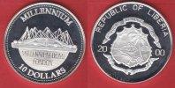 10 Dollars 2000 Liberia Millennium - Millennium Dome Polierte Platte Pr... 25,00 EUR  zzgl. 5,00 EUR Versand