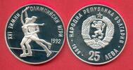 25 Lewa 1989 Bulgarien Olympiade 1992 Albertville, Eiskunstlaufpaar Pol... 12,20 EUR  zzgl. 5,00 EUR Versand