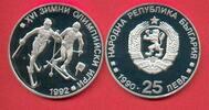 25 Lewa 1990 Bulgarien Olympiade 1992 Albertville, Skilanglauf Polierte... 12,00 EUR