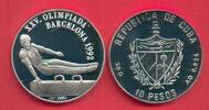 10 Pesos 1990 Kuba Olympiade 1992 Barcelona, Seitpferdturner Polierte P... 16,20 EUR  zzgl. 5,00 EUR Versand