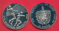 10 Pesos 1990 Kuba Olympiade 1992 Barcelona, Volleyball Polierte Platte... 15,00 EUR