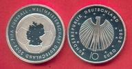 10 Euro 2003 BRD Fussball-WM Landkarte PP Silber Polierte Platte Proof PP  14,99 EUR  zzgl. 5,00 EUR Versand