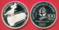 100 Francs 1990 Frankreich Olympiade 1992 Albertville, Zweierbob u. Rod... 12,00 EUR