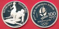 100 Francs 1990 Frankreich Olympiade 1992 Albertville, Slalomläufer u. ... 13,00 EUR