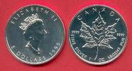 5 Dollars 1996 Kanada Kanadischer Maple Leaf 1 Unze Feinsilber, seltene... 23,00 EUR