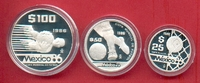 175 Pesos 1986 Mexiko Fussball WM 1986 Mexiko - Serie IV Polierte Platt... 33,00 EUR