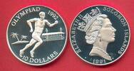 10 Dollar 1991 Salomon Inseln Olympiade 1992 Barcelona, Läufer Polierte... 16,00 EUR