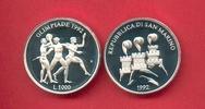 1000 Lire 1992 San Marino Olympiade 1992 Barcelona,  Antike Sportler Po... 9,20 EUR  zzgl. 5,00 EUR Versand