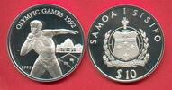 10 Dollar 1991 Westsamoa Olympiade 1992 Barcelona,  Kugelstoßen Poliert... 17,20 EUR  zzgl. 5,00 EUR Versand