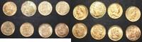 france louisdor/ 20 francs LOT louisdor GOLD typensammlung 1786-1897