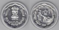1980 Indien 100 Rupien 1980 Jahr der Frau Ag unz unz  65,00 EUR  zzgl. 5,00 EUR Versand