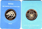 100 $ 1982 Belize Kinkajou/Halbaffe mit Box und Zertifikat proof  185,00 EUR  zzgl. 5,00 EUR Versand