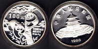 100 Yuan 1988 China Panda 12 oz proof  950,00 EUR kostenloser Versand