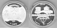 Lettland  1 Lats 2001 proof