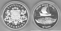 Lettland  10 Latu 1997 proof