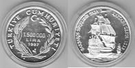 Türkei  1.500.000 Lira 1997 Barbados proof