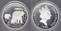 100 $ 1991 Cook Islands Afrikanischer Elefant 5oz Ag proof  145,00 EUR  zzgl. 5,00 EUR Versand