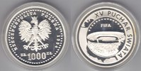 Polen  1000 Zloty World Cup 1994 proof
