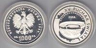 Polen 1000 Zloty World Cup 1994 proof   65,00 EUR  zzgl. 5,00 EUR Versand