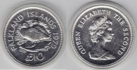 Falkland Inseln    12 Pfund 1979 Enten proof