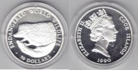 Cook Island  50 Dollar 1990 Igel proof