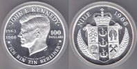 Nive    100$ 1988 Kennedy 5oz Ag proof 175,00 EUR