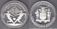 Jamaica 100$ Fußballweltmeisterschaft 1986   125,00 EUR