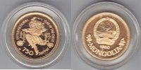 Mongolei 750 Tugrik 1980 Jahr des Kindes  proof  695,00 EUR